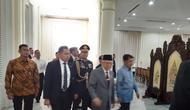 Wakil Presiden Ma'ruf Amin dan Jusuf Kalla di Istana Wapres, Senin (21/10/2019). (Liputan6.com/Putu Merta Surya Putra)