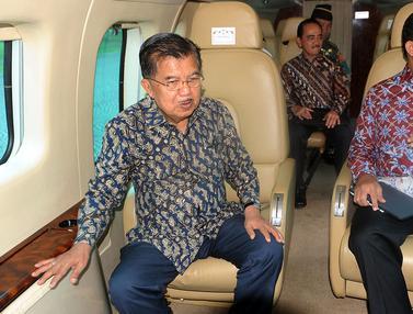 Wapres Jusuf Kalla Tinjau Titik Kemacetan dengan Helikopter