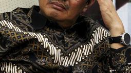 Pakar Hukum Tata Negara, Jimly Asshiddiqie Hadir dalam diskusi Dialektika Demokrasi di Kompleks Parlemen, Senayan, Jakarta, Kamis (2/8). Diskusi tersebut membahas 'Kinerja Legislasi DPR RI'. (Liputan6.com/Johan Tallo)