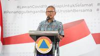 Juru Bicara Pemerintah untuk Covid-19 Achmad Yurianto saat konferensi pers Corona di Graha BNPB, Jakarta, Minggu (29/3/2020). (Dok Badan Nasional Penanggulangan Bencana/BNPB)