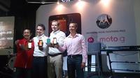 Konferensi pers Moto G (Liputan6.com/Andina)