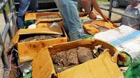 Gakkum KLHK Wilayah Jawa, Bali dan Nusa Tenggara (Jabalnusra), 21 Desember 2020, menyita 300 kilogram daging rusa diduga dari Tanaman Nasional Komodo. (Foto: Liputan6.com/KLHK)