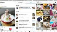 Tampilan baru Instagram (Screenshoot Instagram).