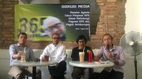 Mantan Ketua KPK Abraham Samad saat menghadiri diskusi Seleksi Capim KPK di Cikini, Jakarta Pusat. (Liputan6.com/Muhammad Radityo Priyasmoro)