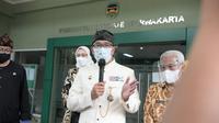 Gubernur Jabar Ridwan Kamil usai meninjau Rumah Sakit Umum Daerah (RSUD) Bayu Asih, Kabupaten Purwakarta, Kamis (24/6/2021). (Foto: Pipin/Biro Adpim Jabar)