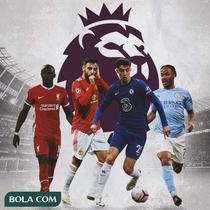 Premier League - Sadio Mane, Bruno Fernandes, Kai Havertz, Raheem Sterling (Bola.com/Adreanus Titus)