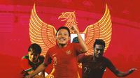 Timnas Indonesia - Adam Alis, Evan Dimas, Muhammad Rafli (Bola.com/Adreanus Titus)