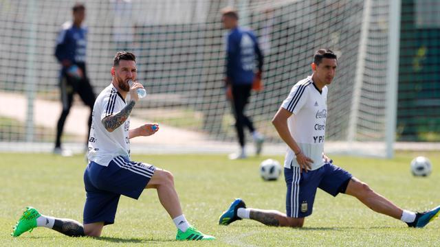 Melihat Latihan Timnas Argentina Jelang Duel dengan Prancis