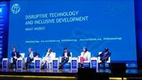 Panel diskusi disruptive technology and inclusive development (Foto:Liputan6.com/Maulandy R)
