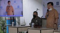 Dewan Pembina Yayasan Wakaf Paramadina (YWP) Jusuf Kallasaat mersemikan Lembaga Wakaf Paramadina (LWP) di Kampus Universitas Paramadina, Jakarta Selatan,Jumat (18/6/2021). (Tim Komunikasi Publik Jusuf Kalla/JK)