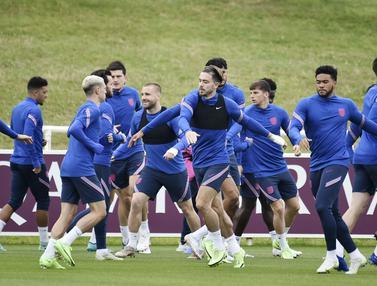 Foto Piala Eropa: Persiapan Timnas Inggris Jelang Perempat Final Euro 2020, Pantang Lengah dan Remehkan Ukraina