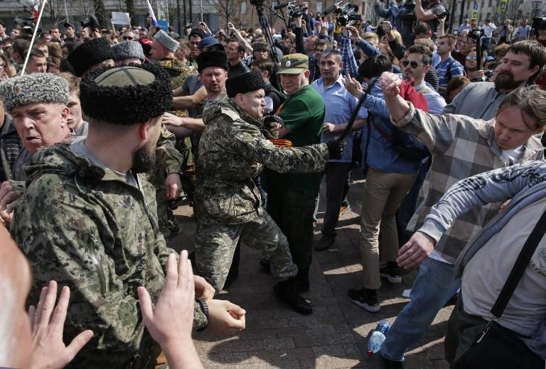Demonstrasi di Seluruh Rusia, Protes Pelantikan Putin (Maxim ZMEYEV / AFP)