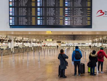 Mogok Nasional Bikin Bandara Brussels Sepi