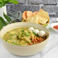 Ilustrasi bubur ayam telur puyuh./Copyright shutterstock.com/g/amalliaeka