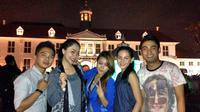 Febro, Ikif, Rasya, Jamil, dan Bonita D'Academy meluangkan waktu untuk berkunjung ke Kawasan Kota Tua.