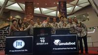 Pencatatan saham PT Garudafood Putra Putri Jaya Tbk dan PT Jaya Bersama Indo Tbk (Foto: Istimewa)