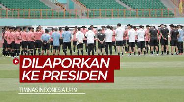 Berita video Menpora, Zainudin Amali, menyampaikan bahwa perkembangan Timnas Indonesia U-19 akan dilaporkan langsung ke Presiden Jokowi.