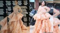 Nama Sine Benjaphorn, menjadi viral sejak Juni lalu setelah dia mengunggah foto diri dalam balutan gaun terbuat dari kerupuk udang.