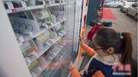 Taiyuan baru-baru ini meluncurkan sebuah mesin penjual otomatis yang menyediakan berbagai bahan makanan yang siap untuk digunakan.