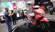 Yamaha FreeGo meluncur di acara Indonesia Motorcycle Show 2018 di JCC, Jakarta, Rabu (31/10/2018). (Herdi/Liputan6.com)