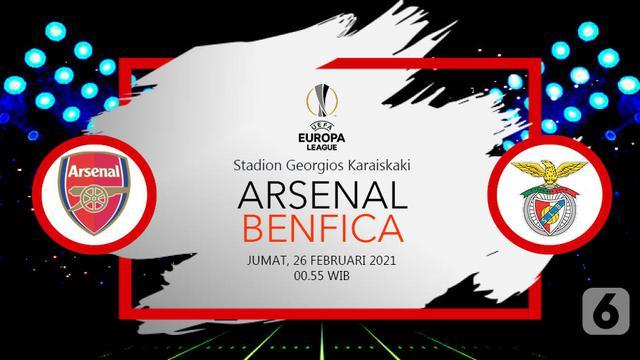 Preview Liga Europa Arsenal Vs Benfica Awas Tergelincir Bola Liputan6 Com