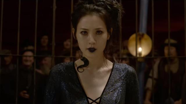 Sosok Nagini yang diperankan Claudia Kim di  Fantastic Beasts: The Crimes of Grindelwald (YouTube/ Warner Bros)