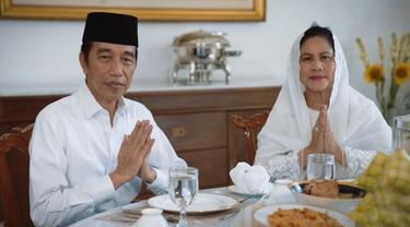 Presiden Jokowi dan Ibu Negara mengucapkan Selamat Hari Raya Lebaran