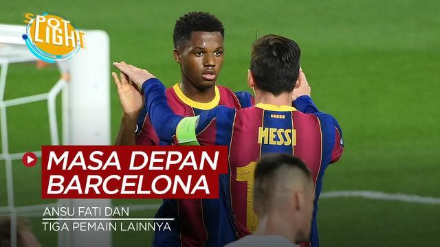 Berita video spotlight kali ini membahas tentang empat pemain yang diprediksi biasa jadi pilar masa depan Barcelona.