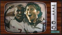 Boaz Solossa dan Ilham di Piala AFF 2004 (Bola.com/Adreanus Titus)