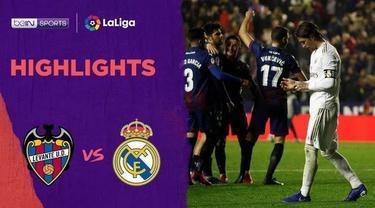 Beriita Video Highlights La Liga, Real Madrid Ditaklukkan Levante 0-1