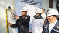 Direktorat Jenderal Migas Kementerian Energi dan Sumber Daya Mineral (ESDM) meresmikan jaringan gas rumah tangga (jargas)  di Pasuruan di Probolinggo, Rabu (16/10/2019).