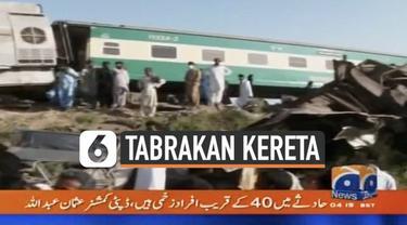 Kecelakaan maut terjadi di Pakistan hari Senin (7/6). Dua kereta api bertabrakan menewaskan sedikitnya 25 penumpang.