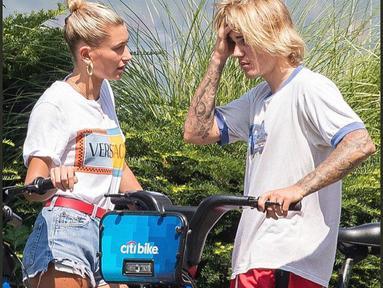 Justin Bieber akhirnya buka suara usai penggemar bertanya-tanya mengenai d irinya yang menangis saat bersepeda dengan Hailey Baldwin.(instagram/justinbiebertrackerrr)