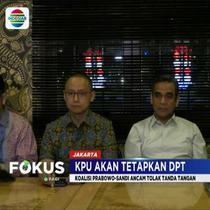 Meski menolak, Sekjen Koalisi Prabowo-Sandi tetap akan menghadiri penetapan DPT yang diselenggarakan KPU.