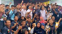Kepala Pusat Pelatihan Pertanian, Bustanul Arifin Caya yang hadir saat membuka Jambore Pusat Pelatihan Pertanian dan Perdesaan Swadaya (P4S) Wilayah Provinsi Jawa Timur, di P4S Sedulur Tani, Jombang, Jawa Timur pada, Rabu (26/02)