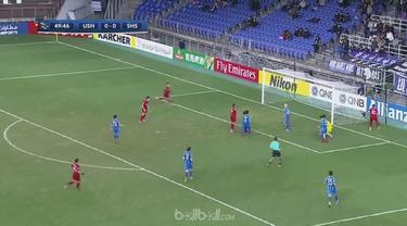 Shanghai SIPG lolos ke babak 16 besar Liga Champions Asia usai meraih kemenangan tipis 1-0 atas Ulsan Hyundai. Elkeson memecah keb...