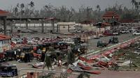 Kerusakan parah terjadi di desa nelayan Penthakata di Kota Puri, akibat hantaman dahsyat Topan Fanni (AP Photo)