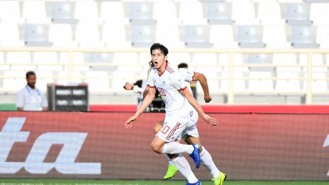 Penyerang Timnas Iran, Sardar Azmoun, tampil impresif sepanjang penyisihan grup Piala Asia 2019. (AFP/Khaled Desouki)