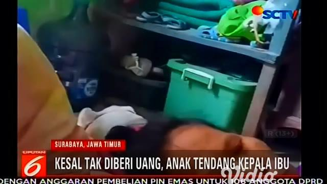 Hanya karena kesal tak diberi uang dan diomeli ibunya, pemuda ini melakukan perbuatan tak menyenangkan kepada ibunya yang sedang sakit.