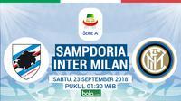 Serie A 2018-2019 Sampdoria Vs Inter Milan (Bola.com/Adreanus Titus)