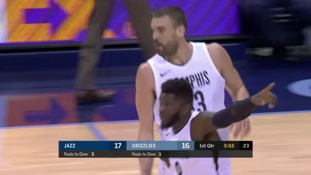 Berita video game recap NBA 2017-2018 antara Utah Jazz melawan Memphis Grizzlies dengan skor 92-88.
