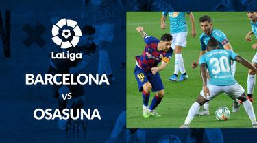 Berita motion grafis statistik La Liga 2019-2020 pekan ke-37. Barcelona kalah dari Osasuna di Camp Nou.