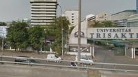 Kampus Trisakti di Jalan Kyai Tapa No 1, RT 06 RW 16, Grogol, Grogol Petamburan, Jakarta Barat. (Googlemap)