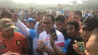 Gubernur DKI Jakarta Anies Baswedan menyatakan Pemprov DKI Jakarta siap menyambut Asian Para Games 2018. (Liputan6.com/Ika Defianti)