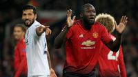 Romelu Lukaku gagal mencetak gol ketika Manchester United menghadapi Valencia di Liga Champions. (AFP/Lindsey Parnaby)