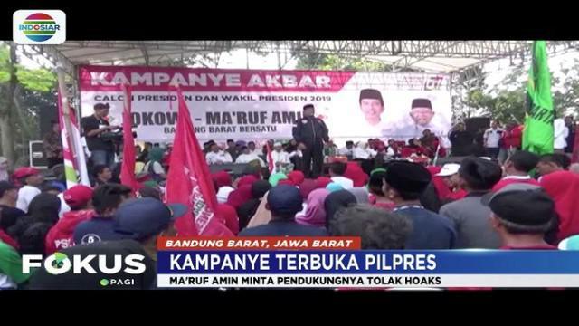Kampanye di Bandung Barat, Ma'ruf Amin optimis perolehan suara di Jawa Barat akan unggul.