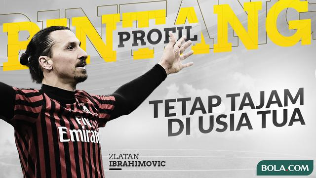 Zlatan Ibrahimovic. (Bola.com/Dody Iryawan)