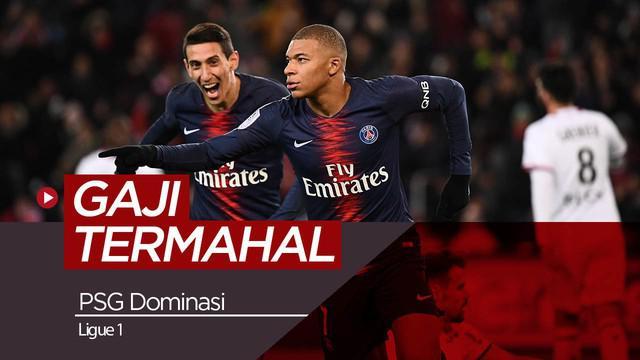 Berita video deretan 10 pemain dengan gaji termahal di Ligue 1 Prancis yang didominasi oleh para pemain Paris Saint-Germain.