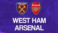 Liga Inggris: West Ham United Vs Arsenal. (Bola.com/Dody Iryawan)
