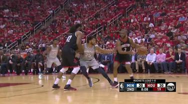 Berita video game recap NBA 2017-2018 antara Houston Rockets melawan Minnesota Timberwolves dengan skor 102-82.